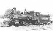 Fireman's-side 3/4 view of RGS 2-8-0 #40 at Ridgway.<br /> RGS  Ridgway, CO
