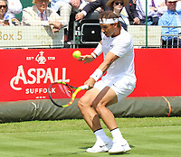 Rafael Nadal plays at the Aspall Tennis Classic at Hurlingham Club, London on 26 June 2019<br /> <br /> Photo by Keith Mayhew