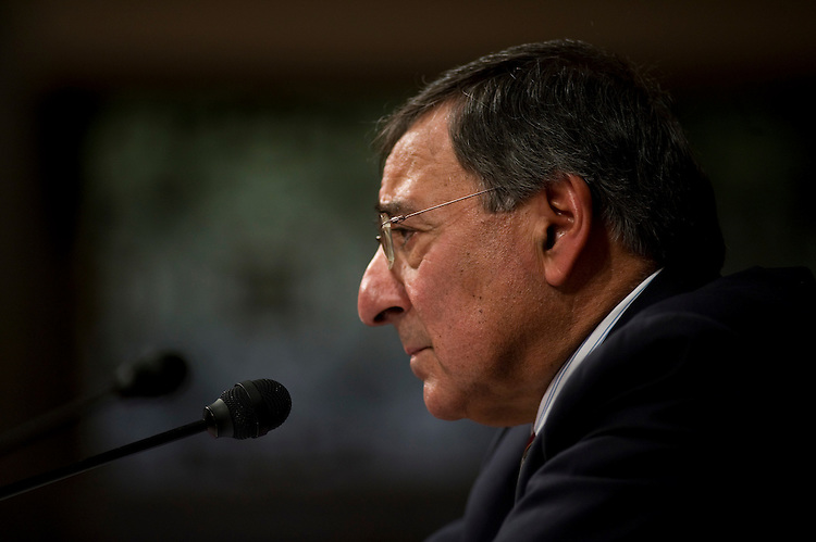 WASHINGTON, DC - Feb. 05: Leon E. Panetta, President Obama's choice to lead the Central Intelligence Agency, during his nomination hearing before the Senate Intelligence Committee. Panetta, whose selection as CIA director despite a short intelligence resume has made him one of the more attention-getting nominees of the Obama administration. (Photo by Scott J. Ferrell/Congressional Quarterly)