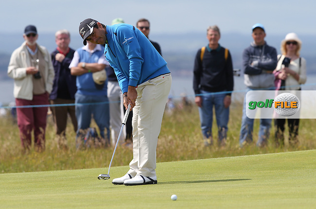 Felipe Aguilar (CHI) during Round Three of the 2015 Aberdeen Asset Management Scottish Open, played at Gullane Golf Club, Gullane, East Lothian, Scotland. /11/07/2015/. Picture: Golffile | David Lloyd<br /> <br /> All photos usage must carry mandatory copyright credit (&copy; Golffile | David Lloyd)