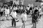 Mourners attend the burial of a relative in Juchitan, Oaxaca, March 18, 1983.  © Photo by Heriberto Rodriguez