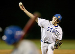 SIOUX FALLS, SD - MAY 20: Andrew Clemen #28 from South Dakota State delivers a pitch to close the game against IPFW in the ninth inning Wednesday night at the Sioux Falls Stadium during the Summit League Baseball Tournament. (Photo by Dave Eggen/Inertia)