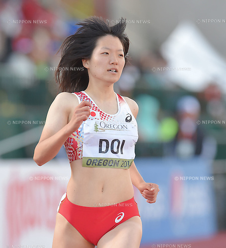 Anna Doi (JPN),<br /> JULY 23, 2014 - Athletics :<br /> IAAF World Junior Championships Women's 100m Semifinals at Hayward Field in Eugene, Oregon, United States. (Photo by AFLO)