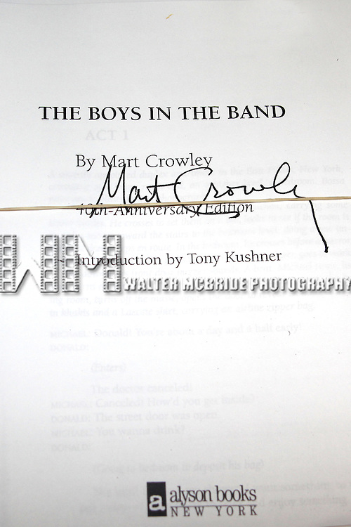 Mart Crowley ( Script ).attending the Meet & Greet for Transport Group's THE BOYS IN THE BAND at the Chelsea Studios in New York City..January 12, 2009.© Walter McBride /