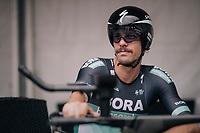 Daniel Oss (ITA/BORA-hansgrohe) waiting to start<br /> <br /> Stage 20 (ITT): Saint-P&eacute;e-sur-Nivelle &gt;  Espelette (31km)<br /> <br /> 105th Tour de France 2018<br /> &copy;kramon