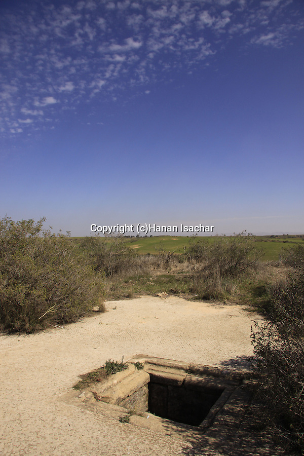 Israel, Northern Negev, remains from the Byzantine period at Bitronot Ruhama in Besor region, a water cistern