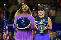 Serena Williams (USA) vs Bianca Andreescu<br /> Flushing Meadows 08/09/2019 US Open<br /> Tennis Grande Slam 2018 <br /> Photo Antoine Couvercelle /Panoramic / Insidefoto <br /> ITALY ONLY