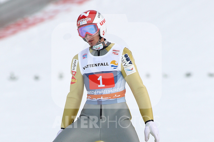 01.01.2012, Olympia Skistadion, GARMISCH-PARTENKIRCHEN, GER, 60. Vierschanzentournee, FIS Ski Sprung Weltcup, 1. wertungsdurchgang, im Bild Robert KRANJEC (SLO) // Robert KRANJEC of Slovenia during the 1st round of the 60th Four-Hills-Tournament FIS World Cup Ski Jumping at Olympia Skistadion, GARMISCH-PARTENKIRCHEN, Germany on 2012/01/01, EXPA Pictures © 2012, PhotoCredit: EXPA/ Sven Kiesewetter