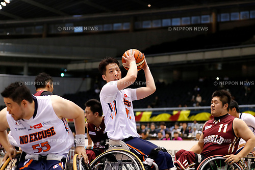 Takahiro Ikeda (NO EXCUSE), <br /> MAY 4, 2017 - Wheelchair Basketball : <br /> Japan Wheelchair Basketball Championship<br /> semi-final match between NO EXCUSE - World BBC<br /> at Tokyo Metropolitan Gymnasium in Tokyo, Japan. <br /> (Photo by Yohei Osada/AFLO SPORT)