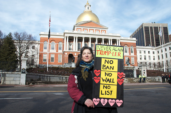 Safe Communities Rally for Immigrants and Muslims sponsored by Massachusetts Immigrant and refugee Advocacy Coalition at Boston Statehouse Boston MA 2.1.17