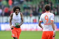 FUSSBALL   1. BUNDESLIGA  SAISON 2012/2013   6. Spieltag  29.09.2012 SV Werder Bremen - FC Bayern Muenchen    SCHLUSSJUBEL FC Bayern; Dante (li)
