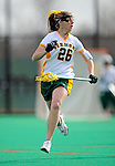 9 April 2008: University of Vermont Catamounts' Midfielder Jessa Merrill, a Junior from Kennebunk, ME, in action against the University of New Hampshire Wildcats at Moulton Winder Field, in Burlington, Vermont. The Catamounts rallied to defeat the visiting Wildcats 9-8 in America East divisional play...Mandatory Photo Credit: Ed Wolfstein Photo