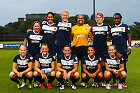 Sky Blue FC starting eleven. FC Kansas City defeated Sky Blue FC 1-0 during a National Women's Soccer League (NWSL) match at Yurcak Field in Piscataway, NJ, on July 28, 2013.