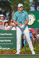 Jordan Spieth (USA) watches his tee shot on 10 during round 1 of The Players Championship, TPC Sawgrass, at Ponte Vedra, Florida, USA. 5/10/2018.<br /> Picture: Golffile | Ken Murray<br /> <br /> <br /> All photo usage must carry mandatory copyright credit (&copy; Golffile | Ken Murray)