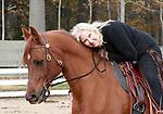 """Barbara Beier Reynolds K""""60 on her Arabian horse."""