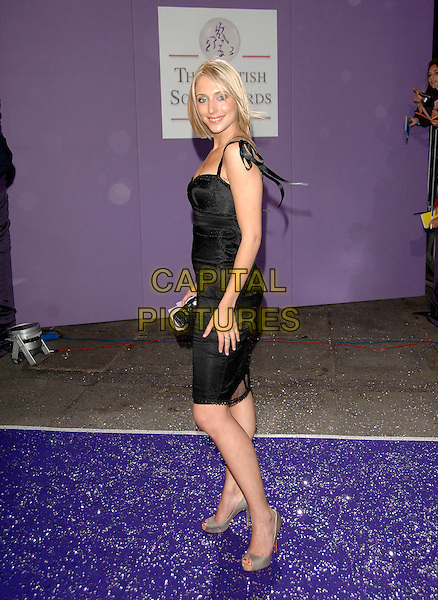 ALI BASTIAN.Arrivals at the British Soap Awards 2007,.BBC Television Centre, London, England, .May 26, 2007..full length black dress clutch bag shoes Christian Louboutin platforms.CAP/PL.©Phil Loftus/Capital Pictures