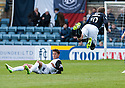 Caley's Danny Williams goes in late on Dundee's Kevin Thomson.