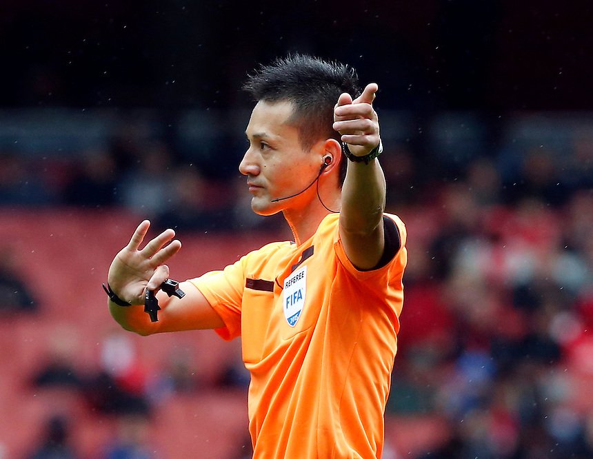 Referee Ryuji Sato (Japen)<br /> <br /> Photographer Kieran Galvin/CameraSport<br /> <br /> Football - Emirates Cup - Olympique Lyonnais v Villarreal - Sunday 26th July 2015 - Emirates Stadium - London <br /> <br /> &copy; CameraSport - 43 Linden Ave. Countesthorpe. Leicester. England. LE8 5PG - Tel: +44 (0) 116 277 4147 - admin@camerasport.com - www.camerasport.com