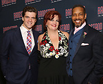 Jonathan Shew, Mary Callanan and Kevyn Morrow attends the Broadway Opening Night After Party of 'Bandstand' at the Edison Ballroom on 4/26/2017 in New York City.