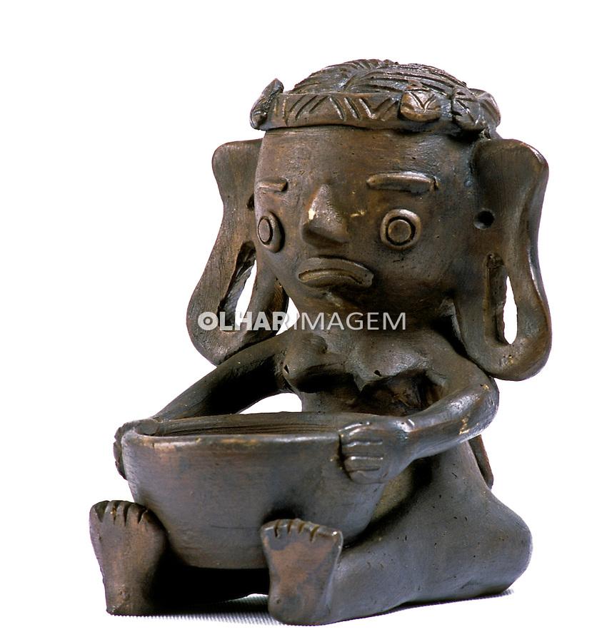 Boneco de cerâmica, artesanato paraense. Foto de João Caldas.