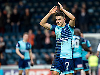 Luke O'Nien of Wycombe Wanderers applauds the fans during the Sky Bet League 2 match between Wycombe Wanderers and Blackpool at Adams Park, High Wycombe, England on the 11th March 2017. Photo by Liam McAvoy.