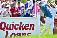 Bethesda, MD - July 1, 2018: Bronson Burgoon hits off the tee on hole 1 during final round of professional play at the Quicken Loans National Tournament at TPC Potomac at Avenel Farm in Bethesda, MD.  (Photo by Phillip Peters/Media Images International)