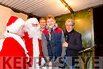 Santa and Mrs Claws, Kerry Minors Brian Sweeney and Nial Collins and billy Keane came to the switching on of  the Christmas Lights in Listowel on Sunday