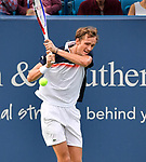 August  17, 2019:  Daniil Medvedev (RUS) defeated Novak Djokovic (SRB) 3-6, 6-3, 6-3 at the Western & Southern Open being played at Lindner Family Tennis Center in Mason, Ohio. ©Leslie Billman/Tennisclix/CSM