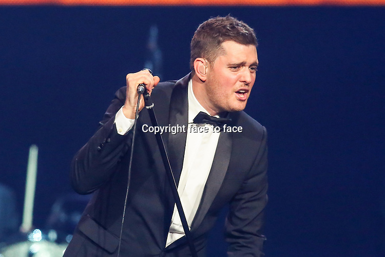RALEIGH, NC - OCTOBER 25: Michael Buble performs at the PNC Arena in Raleigh, NC, October 25, 2013. <br /> Credit: MediaPunch/face to face<br /> - Germany, Austria, Switzerland, Eastern Europe, Australia, UK, USA, Taiwan, Singapore, China, Malaysia, Thailand, Sweden, Estonia, Latvia and Lithuania rights only -