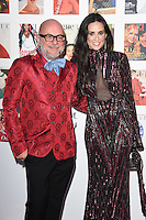 Eric Buterbaugh and Demi Moore<br /> arrives for the Vogue 100 Gala Dinner held in Kensington Gardens, London.<br /> <br /> <br /> ©Ash Knotek  D3122  23/05/2016