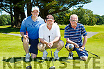 Alan O'Sullivan Pat O'Donnell, and John Paul enright at the Tralee Golf club classic in Killarney Golf club on Sunday