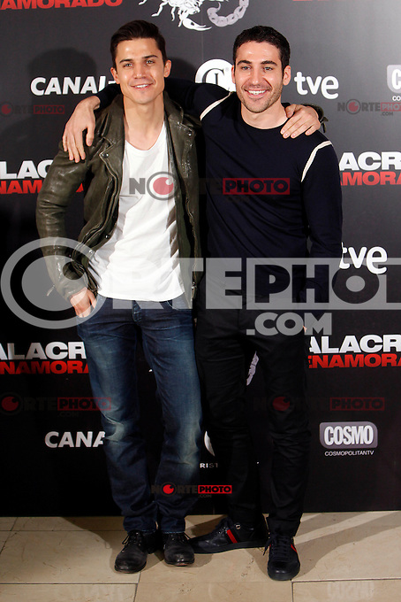 Spanish actors Alex Gonzalez and Miguel Angel Silvestre attend the 'Alacran Enamorado' photocall at the Princesa cinema in Madrid, Spain. April 09, 2013. (ALTERPHOTOS/Caro Marin) /NortePhoto