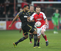 Fleetwood Town's Paddy Madden  battles with AFC Wimbledon's Liam Trotter<br /> <br /> Photographer Mick Walker/CameraSport<br /> <br /> Emirates FA Cup Third Round - Fleetwood Town v AFC Wimbledon - Saturday 5th January 2019 - Highbury Stadium - Fleetwood<br />  <br /> World Copyright © 2019 CameraSport. All rights reserved. 43 Linden Ave. Countesthorpe. Leicester. England. LE8 5PG - Tel: +44 (0) 116 277 4147 - admin@camerasport.com - www.camerasport.com