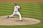 12 October 2012: Washington Nationals pitcher Edwin Jackson on the mound during Postseason Playoff Game 5 of the National League Divisional Series against the St. Louis Cardinals at Nationals Park in Washington, DC. The Cardinals rallied with four runs in the 9th inning to defeat the Nationals 9-7; thus winning the NLDS and moving on to the NL Championship Series. Mandatory Credit: Ed Wolfstein Photo