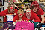 Pix: Shaun Flannery/shaunflanneryphotography.com...COPYRIGHT PICTURE>>SHAUN FLANNERY>01302-570814>>07778315553>>..19th March 2011...............Lakeside Village, Doncaster..Comic Relief Event..L-R Tracey Ogden, Sue Walker, Samantha Billington, Sam Davis of Clarks.