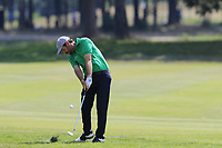 Thomas Aiken (RSA) plays his 2nd shot on the 18th hole during Saturday's Round 3 of the Porsche European Open 2018 held at Green Eagle Golf Courses, Hamburg Germany. 28th July 2018.<br /> Picture: Eoin Clarke | Golffile<br /> <br /> <br /> All photos usage must carry mandatory copyright credit (&copy; Golffile | Eoin Clarke)