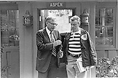 United States Secretary of Defense Harold Brown, left, and National Security Advisor Zbigniew Brezezinski, right, walk out of Aspen Lodge at Camp David, near Thurmont, Maryland following a meeting on the Egypt-Israel Summit..Credit: White House via CNP