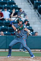 Kris Bryant #25 of the Boise Hawks bats against the Eugene Emeralds at PK Park on July 25, 2013 in Eugene, Oregon. Eugene defeated Boise, 5-4. (Larry Goren/Four Seam Images)