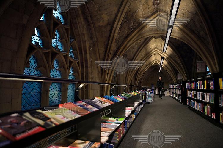 Selexyz bookshop, housed in Maastricht's 13th Century Dominican Church.