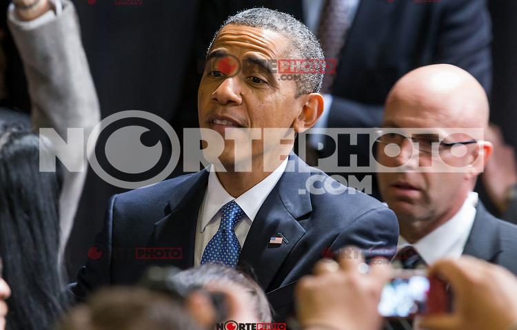 LAS VEGAS, NV - January 29 :  President Barack Obama delivers remarks on immigration policy at Del Sol High School in Las Vegas, Nevada on January 29, 2013.  Credit: Kabik/Starlitepics/MediaPunch Inc.