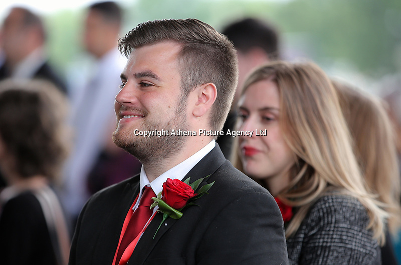 "Pictured: Welsh Government employees laugh when comedic experiences from the life of Rhodri Morgan were read out during the service. Wednesday 31 May 2017<br /> Re: The funeral for former first minister Rhodri Morgan has taken place in the Senedd in Cardiff Bay.<br /> The ceremony, which was open to the public, was conducted by humanist celebrant Lorraine Barrett.<br /> She said the event was ""a celebration of his life through words, poetry and music"".<br /> Mr Morgan, who died earlier in May aged 77, served as the Welsh Assembly's first minister from 2000 to 2009.<br /> He was credited with bringing stability to the fledgling assembly during his years in charge.<br /> It is understood Mr Morgan had been out cycling near his home when he died."
