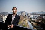 Taeko city, January 15 2013 - Portrait of the Mayor Keisuke Hiwatashi