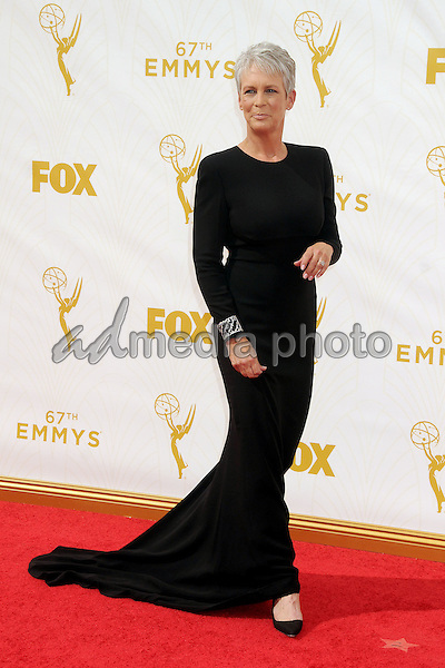 20 September 2015 - Los Angeles, California - Jamie Lee Curtis. 67th Annual Primetime Emmy Awards - Arrivals held at Microsoft Theater. Photo Credit: Byron Purvis/AdMedia