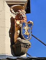 Leeuw aan de gevel van de Waag in Leeuwarden