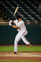 Bowie Baysox third baseman Ryan Mountcastle (4) at bat during the second game of a doubleheader against the Trenton Thunder on June 13, 2018 at Prince George's Stadium in Bowie, Maryland.  Bowie defeated Trenton 10-1.  (Mike Janes/Four Seam Images)