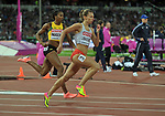 Joanna LINKIEWICZ (POL) in the womens 400m hurdles semi-finals. IAAF world athletics championships. London Olympic stadium. Queen Elizabeth Olympic park. Stratford. London. UK. 08/08/2017. ~ MANDATORY CREDIT Garry Bowden/SIPPA - NO UNAUTHORISED USE - +44 7837 394578