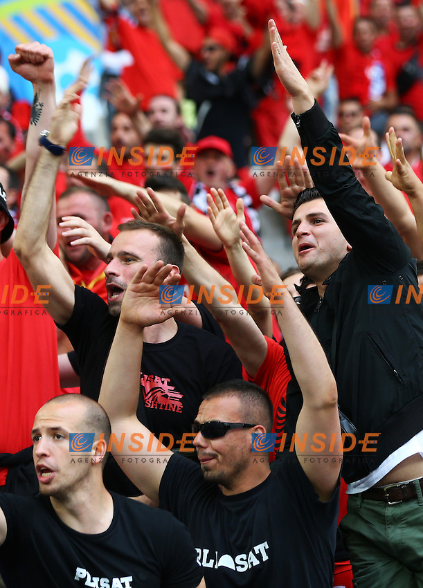 Albania supporters in the stands Tifosi <br /> Marseille 15-06-2016 Stade Velodrome Footballl Euro2016 France - Albania / Francia - Albania Group Stage Group A. Foto Matteo Ciambelli / Insidefoto