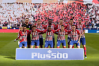 Atletico de Madrid's team photo during La Liga match between Atletico de Madrid and Real Madrid at Wanda Metropolitano Stadium in Madrid, Spain. February 09, 2019. (ALTERPHOTOS/A. Perez Meca)<br /> Liga Campionato Spagna 2018/2019<br /> Foto Alterphotos / Insidefoto <br /> ITALY ONLY