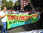 Political rally march on Columbus Day, Fiesta Nacional de España, October 12 2017, Madrid, Spain
