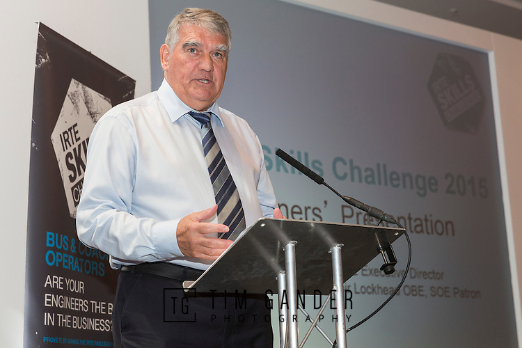 17/07/2015 The IRTE Skills Challenge 2015 prize-giving takes place at The National Motorcycle Museum, Birmingham. Former First Group chief executive Sir Moir Lockhead delivers the keynote address.